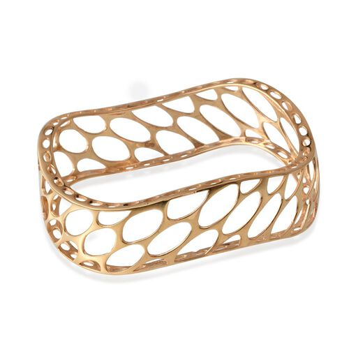 Designer Inspired ION Plated 18K Yellow Gold Bond Bangle (Size 7.5)