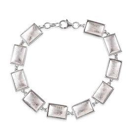 Meteorite (Bgt) Bracelet (Size 8) in Platinum Overlay Sterling Silver 70.000 Ct.