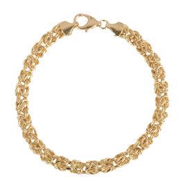 Ottoman Treasure ILIANA 18K Yellow Gold Byzantine Bracelet (Size 7.5), Gold wt 5.70 Gms.
