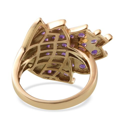 Amethyst (Rnd) Ring in 14K Gold Overlay Sterling Silver 1.750 Ct.