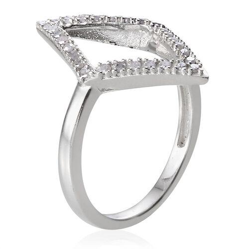 Diamond (Rnd) Ring in Platinum Overlay Sterling Silver 0.250 Ct.