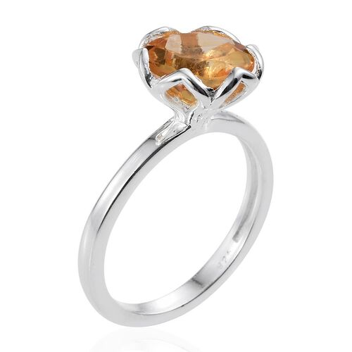 Citrine (Rnd) Solitaire Ring in Sterling Silver 2.500 Ct.