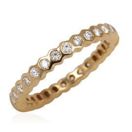 ILIANA 18K Y Gold IGI Certified Diamond (Rnd) (SI/ G-H) Full Eternity Ring 0.500 Ct.