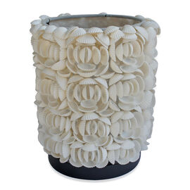 Royal Bali Collection Handmade Cylinder Shaped Sea Shell Flower Table Lamp 500.00 Ct.