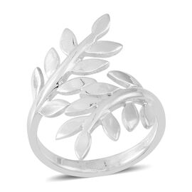 Thai Sterling Silver Leaves Crossover Ring, Silver wt 4.50 Gms.