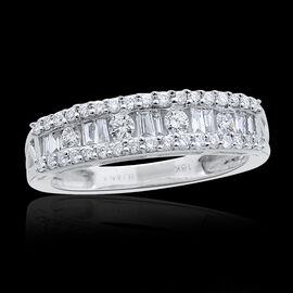 ILIANA 18K W Gold IGI Certified Diamond (Bgt) (SI/ G-H) Ring 0.500 Ct.