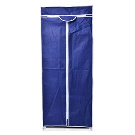 DOD - Navy Blue Colour Foldable Wardrobe (Size 150x58x45 Cm)