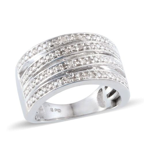 Diamond (Rnd) Ring in Platinum Bond 0.080 Ct.