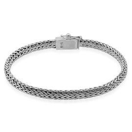 Royal Bali Collection Sterling Silver Tulang Naga Bracelet (Size 8), Silver wt. 23.29 Gms.