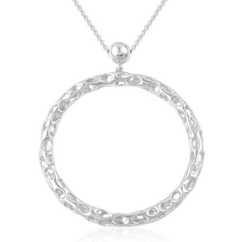 RACHEL GALLEY Rhodium Plated Sterling Silver Allegro Necklace (Size 30), Silver wt 19.05 Gms.