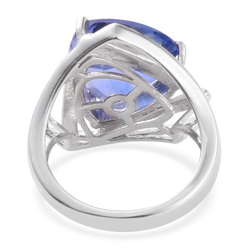 Colour Change Fluorite (Trl) Solitaire Ring in Platinum Overlay Sterling Silver 6.500 Ct.