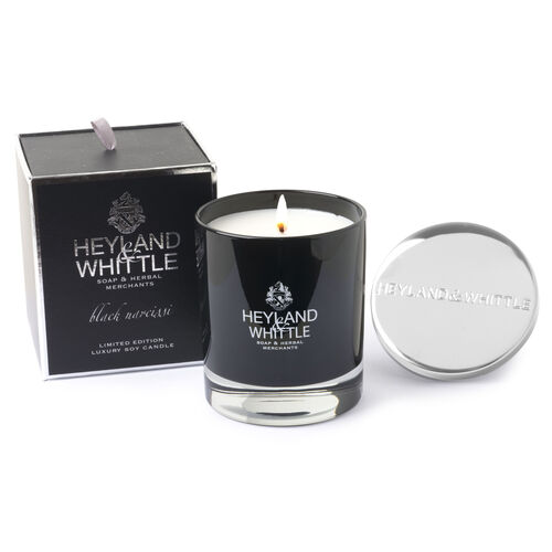 Heyland and Whittle Limited Edition Candle in glass Jar 230g Black Narcissi