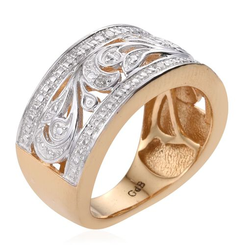 Diamond (Rnd) Ring in ION Plated 18K Yellow Gold Bond