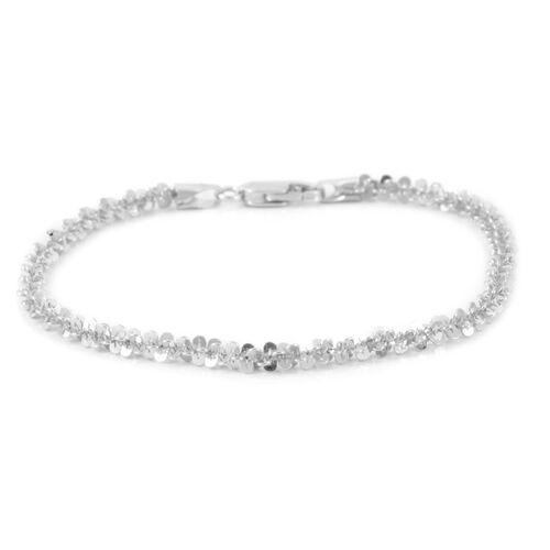 Close Out Deal 9K W Gold Twisted Criss Cross Bracelet (Size 7.5), Gold wt 5.12 Gms.
