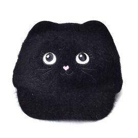 Black Colour Cat Face Child Cap (Size 25 Cm)