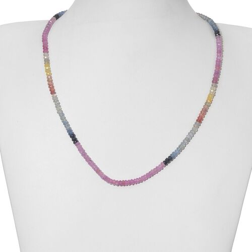 14K Y Gold Multi Sapphire (Rnd) Necklace (Size 18) 64.400 Ct.