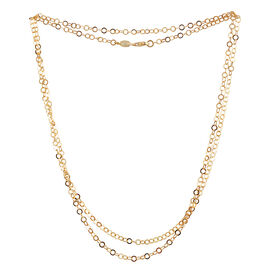 JCK Vegas Collection 14K Gold Overlay Sterling Silver Hammered Round Link Cable Chain (Size 36), Silver wt 5.80 Gms.