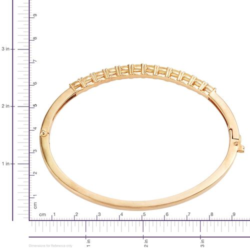 Marialite (Ovl) Bangle (Size 7.5) in 14K Gold Overlay Sterling Silver 2.500 Ct.