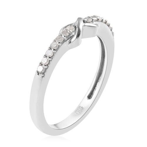 Diamond Promise Infinity Silver Ring in Platinum Overlay 0.150 Ct.