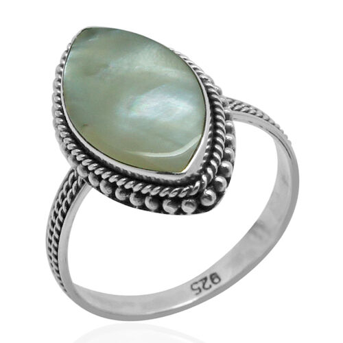 Royal Bali Collection Mother of Pearl (Mrq) Ring in Sterling Silver