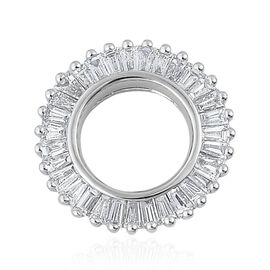 ILIANA 18K W Gold IGI Certified Diamond (Bgt) (G/H and SI) Circle Pendant 0.500 Ct.