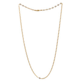Close Out Deal 14K Gold Overlay Sterling Silver Mariner Chain (Size 24), Silver wt 5.60 Gms.