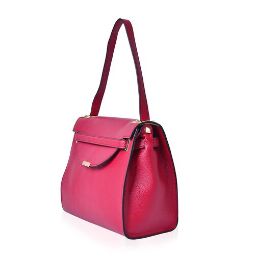 Red Colour Crossbody Bag With Shoulder Strap (Size 30x26x13 Cm)