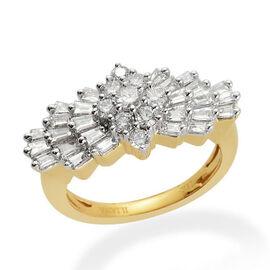 ILIANA 18K Y Gold IGI Certified Diamond (Rnd 0.05 Ct) (SI/G-H) Ring 1.000 Ct.