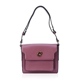 Eve Rose Colour Crossbody Bag with Ammonite (Size 24x20x8 Cm)