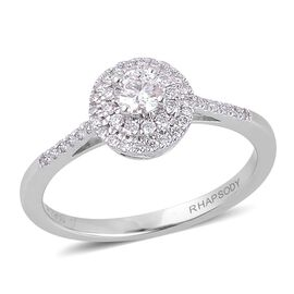 RHAPSODY 950 Platinum 0.50 Carat IGI Certified Diamond VS E-F Engagement Ring