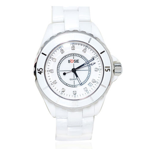 Bosie Ceramics - Target B12 White Special Edition - Seiko VX42 Precision Timekeeper Movement Ceramic Wristwatch