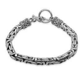 Royal Bali Collection Sterling Silver Borobudur Bracelet (Size 8), Silver wt 47.50 Gms.