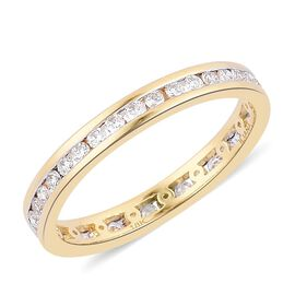 ILIANA 18K Y Gold IGI Certified Diamond (Rnd) (SI/G-H) Full Eternity Engagement Ring 0.500 Ct.