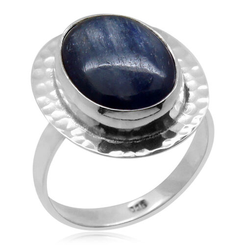 Royal Bali Collection Himalayan Kyanite (Ovl) Solitaire Ring in Sterling Silver 10.160 Ct.