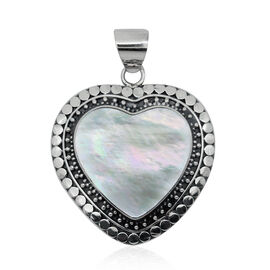 Royal Bali Collection Mother of Pearl (Hrt) Pendant in Sterling Silver