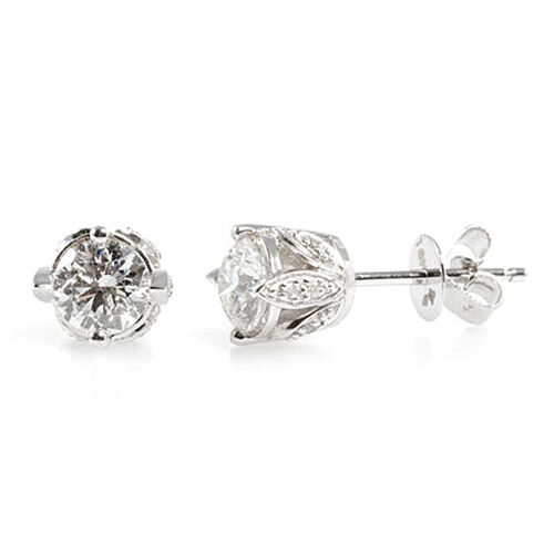 ILIANA Diamond 18K W Gold Earring  1.058  Ct.
