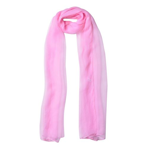 Pantone Collection - 100% Mulberry Silk Pink Colour Scarf (Size 170X70 Cm)