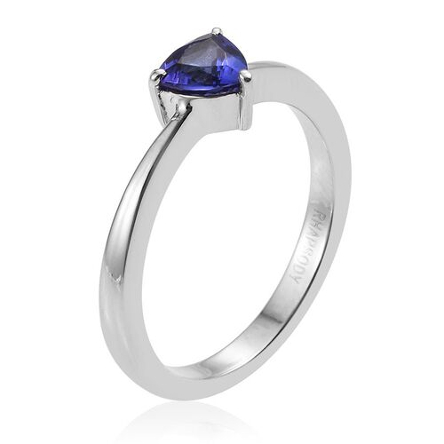 RHAPSODY 950 Platinum 0.50 Carat AAAA Trillion Tanzanite Solitaire Ring