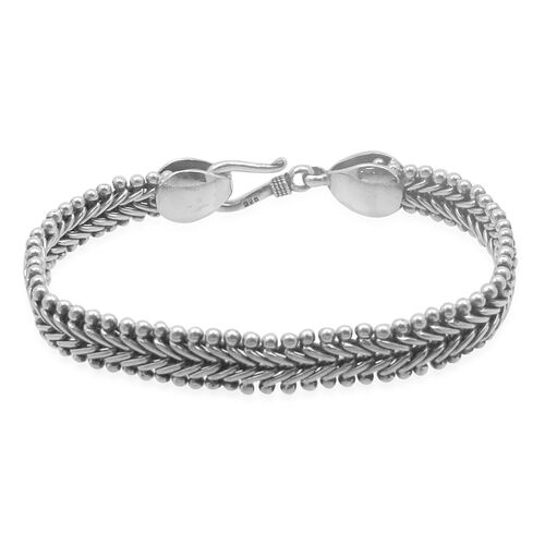 Royal Bali Collection Sterling Silver Tulang Naga Bracelet (Size 7), Silver wt 21.00 Gms.