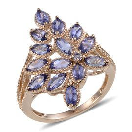 9K Y Gold AA Tanzanite (Mrq) Ring 1.800 Ct.