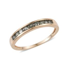 9K Y Gold Narsipatnam Alexandrite (Rnd) Half Eternity Band Ring 0.750 Ct.
