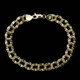 JCK Vegas Collection ILIANA 18K Y Gold Double Curb Bracelet (Size 7.5), Gold wt 6.20 Gms.
