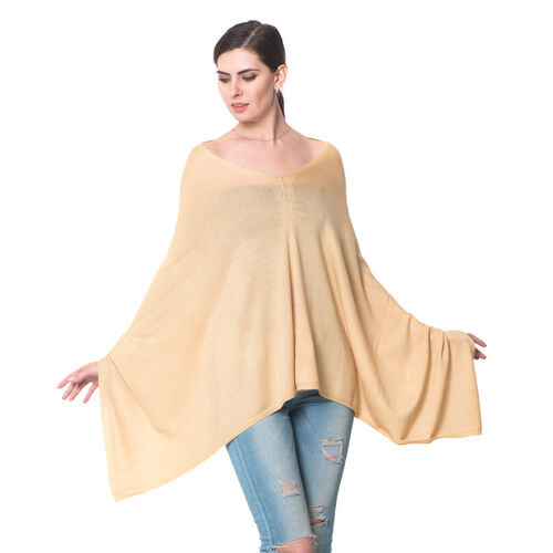 100% Merino Cashmere Wool Cream Colour Body Shawl (Free Size)