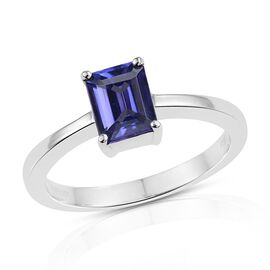 RHAPSODY 950 Platinum 1.50 Carat AAAA Tanzanite Octagon Solitaire Ring.