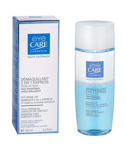 Eyecare Cosmetics- High tolerance macara black, eyeliner pencil black, 2 in 1 express eye makeup remover