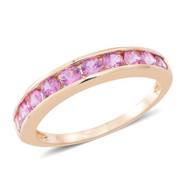 9K Y Gold AAA Pink Sapphire (Rnd) Ring 1.250 Ct.