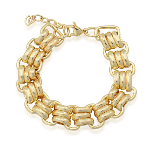ION Plated Yellow Gold Stainless Steel Bracelet (Size 7.5)