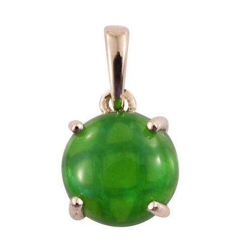 9K Y Gold Green Ethiopian Opal (Rnd) Solitaire Pendant 1.000 Ct.