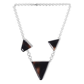 Artisan Crafted Sterling Silver Black Onyx Necklace  101.25  Ct.