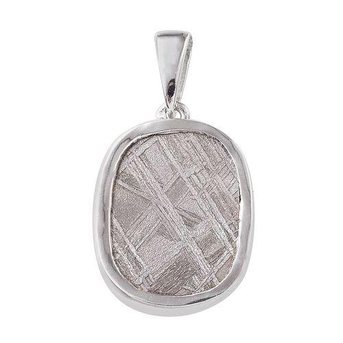 Meteorite (Cush) Pendant in Platinum Overlay Sterling Silver 17.000 Ct.